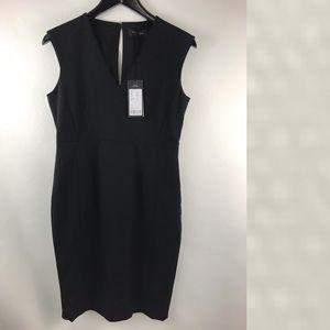 Piazza Sempione wool solid black dress